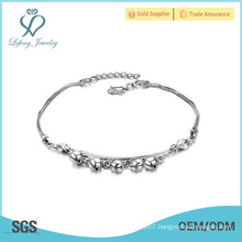 Simple silver anklets jewelry,platinum anklet for girls