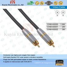 Goldkomponenten AV-Kabel für Video- und Stereo-Audio-Stecker auf männliches Kabel