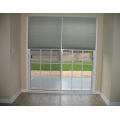 Sliding doors with cell shades