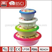 3 en 1 coloré en plastique alimentaire contenant