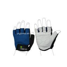 Glove-medio guante de dedo-guantes de seguridad-PU guante-guantes de deporte-guantes de protección