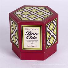 Caja de empaquetado de encargo del regalo del hexágono de la buena calidad de la cartulina con la tapa