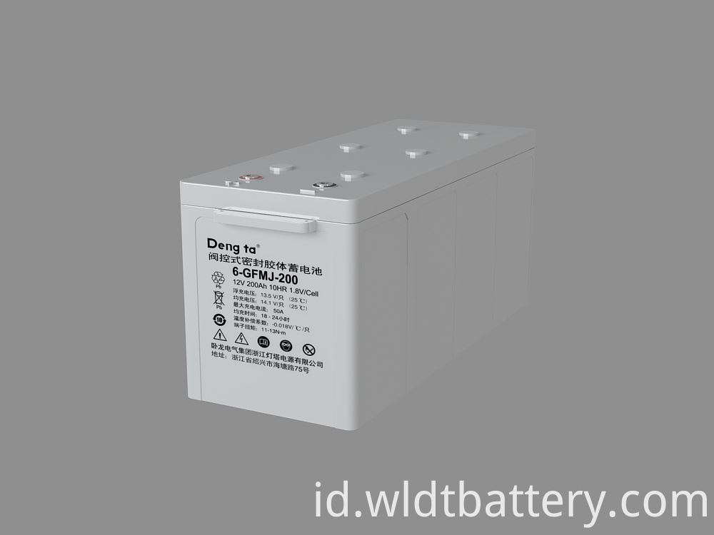Valve Regulated Sealed Gel Battery, Colloid Lead Acid Battery, 12V 200Ah Gel Lead Acid Battery