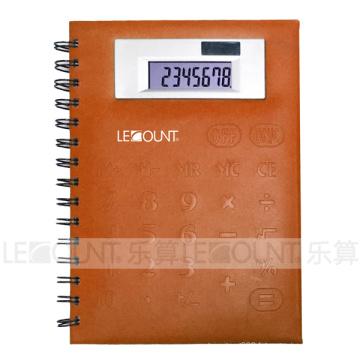 Grande taille 8 chiffres calculatrice ordinateur portable avec couverture avant en PVC (LC563A)