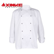 henan double-breasted hotel food service uniforme unisex chef coat