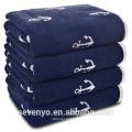 100% cotton Navy anchor bath towel