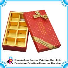 caja de chocolate personalizada al por mayor nuevo diseño con divisor de papel
