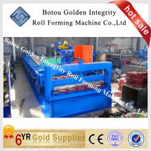 China Metal laminado en frío de baldosas de azulejos formando máquina para la construcción, azulejos de acero que hace la máquina