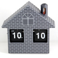 Red House Flip Clock Orologio da scrivania