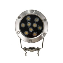 ip68 9w laminated glass underwater light led pond