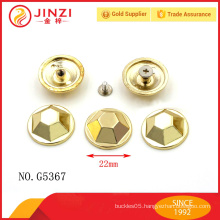Made in china handbags hardware zinc alloy rivets and studs for bag