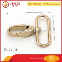 Gancho del perno del eslabón giratorio, accesorio metálico gancho del broche de presión del bolso de la aleación del cinc