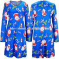 2017 Fabrik Preis Passenden Familie Kleidung Für Frauen Weihnachtsmann Gedruckt Weiß Sapphire Damen Erwachsene Weihnachten Kleidung