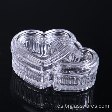 Hear Shape Glass Jewel Box Ideal regalo de Navidad