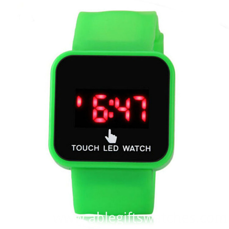 health silicone led watch