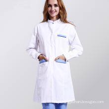 White Medical Lab Coat Clothing Plus Size Long Nurse Doctors Uniform