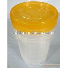 tampa de rosca recipiente plástico de preservação