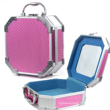 Polygon Jewelry Box with Makeup Mirror