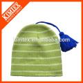 Модные трикотажные зимние шапки со шнурками