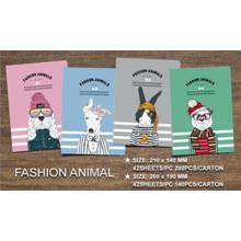 Notebook de exercícios de venda quente com animais de moda