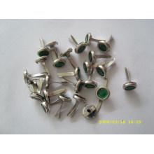 Alta qualidade personalizado metal brads unhas