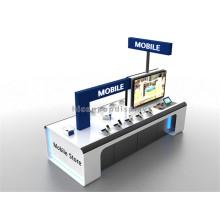 Freistehende Holz Werbung Computer Display Stand, Sicherheit Display Stand für Handy Handy