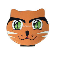 Espejo cosmético de cuero Cat promocional por mayor