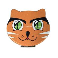 Espelho cosmético de couro de gato promocional por atacado