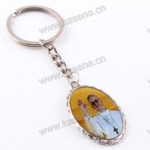 New Pope Francis Epoxy Image Catholic Medal, Religious Keychain