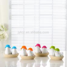 Hochzeitsgeschenk Keramik Silikon Salz und Pfefferstreuer Set