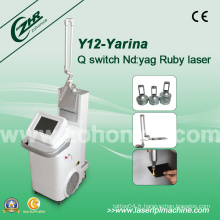 Y12 Q-Switch ND YAG Laser Removal Tattoo Freckle Equipment