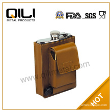 hip flask with poker gamble set