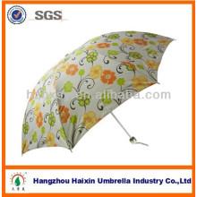 HangZhou pliage parapluie avec fleur impression promotionnelle