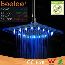 Glass Rainfall LED Shower Head