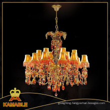 Classical Luxury Lampshade Brass Chandelier (MD0702-12+6)
