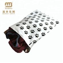 Eco Friendly Custom Dog Paw Design Printing Strong Self Adhesive Ldpe Polybag For Shirt