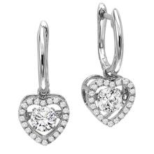 Hot Sales 925 Sterling Silver Dangle Earrings Dancing Diamond Jewelry
