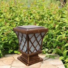 Nouveau style américain CE feux de clôture solaire avec panneau solaire de 4W; Éclairage solaire clôture; clôture solaire lumineuse pour l'éclairage de clôture de vinyle