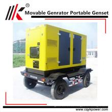 Cheap genset 3 phase 380V/220V 90kva diesel mobile generator portable ghana generator price