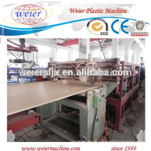WPC pvc móveis chapas/placas máquina de planta de manufatura