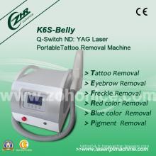 K6s 2014 Mini Machine de beauté pour démontage de tatouage au laser Q-Switch Mini populaire