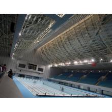 Toiture en acier de structure en acier préfabriquée de cadre pour la couverture de piscine