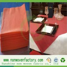 Tissu non tissé coloré tissu de table bon marché