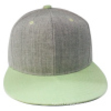 Snapback Cap with Flat Peak with Woolen Crown (1402E)