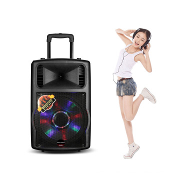 Cube Transparent MP3 Player Speaker with Colorful Light, FM Function
