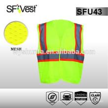 Стандарт ANSI / ISEA107 Для безопасности дорожного работника отражательная безопасность hi vis vest pocket