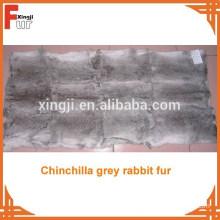 Natural Long Hair Rabbit Skin Plate