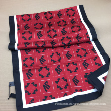 Pañuelo de sarga de seda con estampado de pantalla