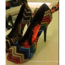 Sandalias de mujer de tacón alto (HS13-058)