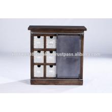 Industrial metálico de 6 cajones y 1 puerta de diapositivas puerta de hierro.